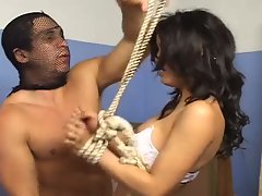 Tied up shemale is released just for a hot fuck
