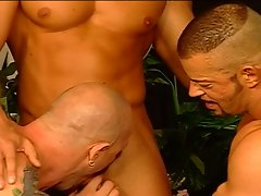 Horny hunks in a hot foursome