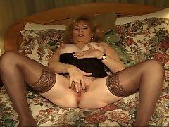 Big tits mature whore fucking hard at 50 with two huge cocks