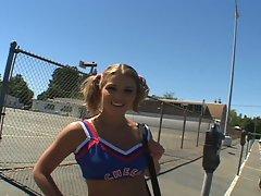 Sweet teen cheerleader down for hardcore anal pov fun