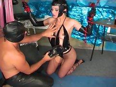 Sexy slave get bizarre sex acts