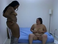 Super greasy pussy session with nasty bbw lesbian sluts