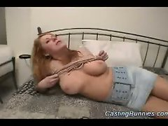 Casting a busty hot bunny sex