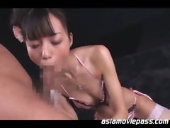 Japanese bondage hot sex with 18 year old bdsm pussy