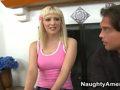 Sweet Blonde Loves Cum on Her Mouth