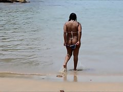 Indian Girl on the beach 1