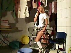 Schoolgirl smoking and pissing lustily