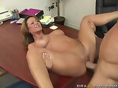 Doctor with big tits fucked on her desk