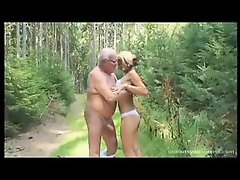 Blowing an old man in the woods