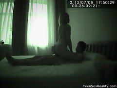Teen couples films their fucking