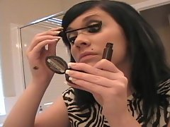 Beautiful Andi Crush does her makeup
