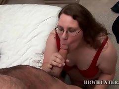 Happy fatty shows cocksucking skills