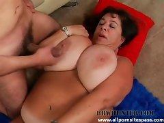 Big tit blubbery milf BBW riding a thick dick