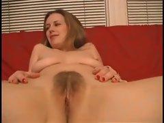 Curvaceous brunette hottie in bikini showing off her goods