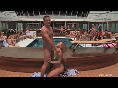 Couple fucks on the cruise ship for all to see