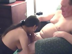 Start of hotel room orgy with lots of oral
