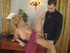 Milf with hairy pussy banged in her stockings
