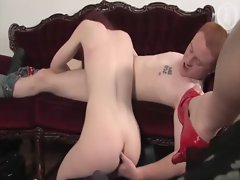 Real hairy pussy bitch gets herself off