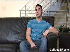 Adam Marx jerking his fine college cock gay sex