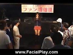 Cute Japanese Babes Nasty Facial Cumshots  20