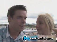 Cute french gf hot blowjob