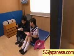 Asians Girls In School Uniforms Get Banged video-04