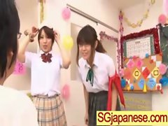 Asians Girls In School Uniforms Get Banged video-03