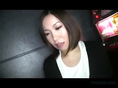 Busty Asian Girl Getting Her Tits Massaged With Lotion And Fucked Cum To Tits On The Couch