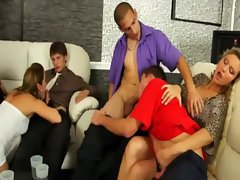 Vip lounge area goes orgy