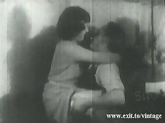 1929 vintage with hairy Kate pleasing Dick