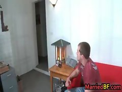 Married man is scared when he sucks gay porn