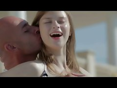 beauteous young lady with pale skin gets shagged by the pool