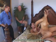 Bushy Dark haired Swinger Bangs Freak Man