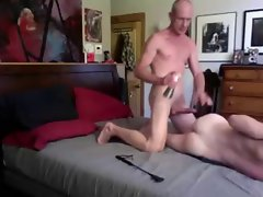 Tall Huge shaft Daddy spanks and breeds Twink