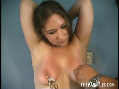 Caras amateur tit torture and nipple clamps