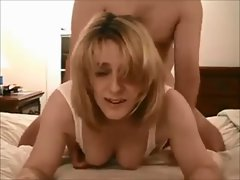 Attractive dirty wife on natural homemade