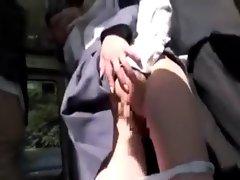 Chikan luscious teen Lasses on Bus