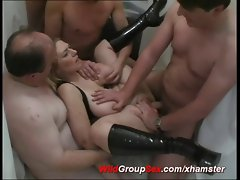 buxom german backdoor gangbang