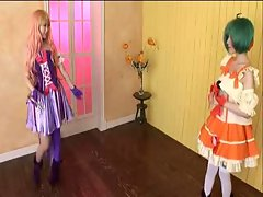 Macross Cosplay Saotome Rui & Hamasaki Rio (sensored)