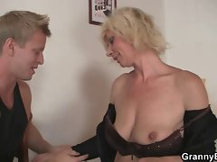 Experienced blond is doggystyle screwed