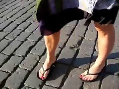 Red toenails on Red Square