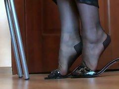 Legs and feet in nylon