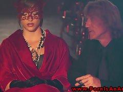 Gorgeous lasses in attractive seduction ceremony