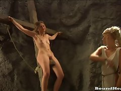 Pretty butch slave tears of Rome