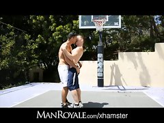 ManRoyale College Dude Shoots Hoops and Caresses a Big One