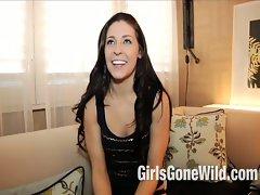 Slutty chicks Gone Crazy Shower Scene: Lewd 18yo Dark haired Gets Dripping