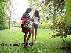 2 lezzies vixens exhibitionnist in the parc