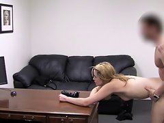 Sweetie bent over and banged on camera