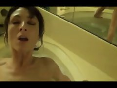 Stiff Dark haired Filthy bitch Bathroom Fuck