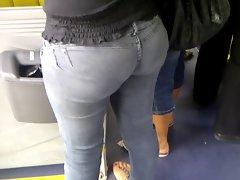 Culona Veterana Jeans Gris en MT